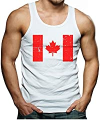 TeeStars Vintage Canadian Maple Leaf Canada Flag Retro Singlet
