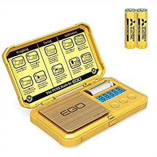 Gram Scale 200 x 0.01g Herb Food Scale Gold Jewelry Pocket Scale LCD Backlight 50g Cal Weight Included Read in Gram oz Grain Carat Pennyweigh ozt