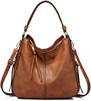 Realer Handbags and Purses for Women, Large Ladies Shoulder Bag Stylish Hobo Bag Purse