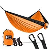 Bear Butt Double Parachute Camping Hammock, Orange / Black