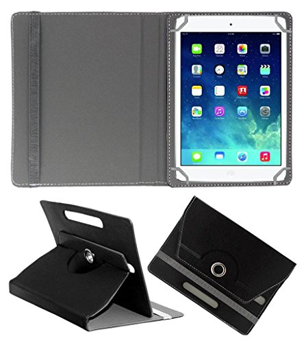 Acm Rotating Leather Flip Case Compatible with Apple Ipad Mini 2 Cover Stand Black
