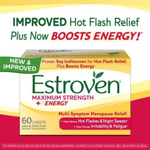 Estroven Maximum Strength + Energy - One Per Day Formula - 2 Boxes, 60 Caplets Each (Best Time Of Day To Take Estroven Weight Management)