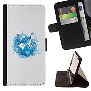 DEVIL CASE - FOR Samsung ALPHA G850 - Forrest Animals - Style PU Leather Case Wallet Flip Stand Flap Closure Cover