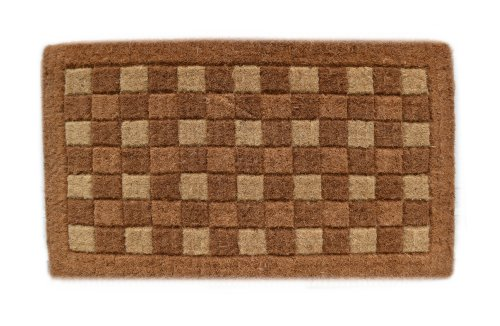 Traditional Checkerboard (Imports Decor Traditional Coir Doormat, Checkerboard Pattern, 18-Inch by 30-Inch)