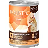 Holistic Select Natural Wet Grain Free Canned Cat Food, Turkey & Salmon Pâté Recipe, 13-Ounce Can (Pack Of 12)