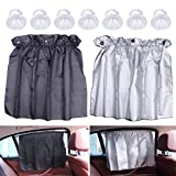 Car Side Window Curtain,EFORCAR Adjustable Sun Shade Car Curtain Flexible Car UV Protector Side Window Cloth Curtain Sun Block Vehicle Suction Cup Car Shades for Babies-1 Pairs