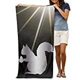 "Squirrel Nut Ca Platinum Style 31.5""51"" Beach Towel"