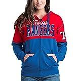 Texas Rangers Women's French Terry Zip Up Color Block Hoodie