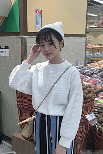 0cbd67847570b Amazon.com   2018 Hitz Korean version bat loose T-shirt female Puff  pullover short paragraph female thick sweater thick for women girl   Beauty