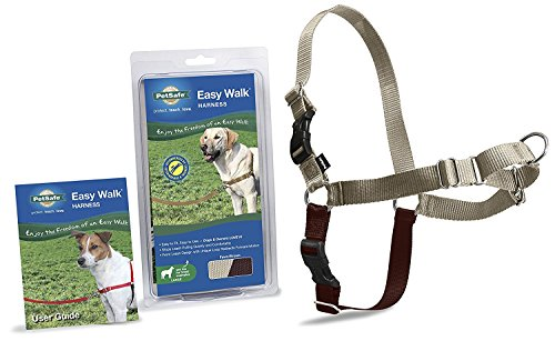 PetSafe Dog Nylon EASY WALK HARNESS Reduce Pulling Large Fawn and (Large Fawn)