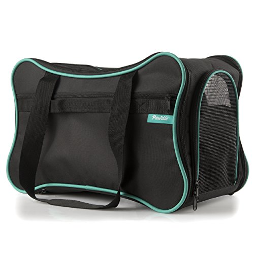 Pawdle Foldable Bone Shaped Pet Carrier Domestic Airline Approved (Black)