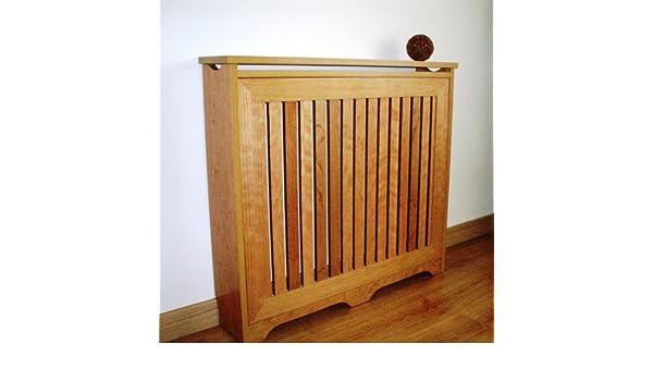 Mueble decorativo cubre radiador, Chapa Natural de Cerezo, 90x83x18cm, fácil montaje en KIT.: Amazon.es: Hogar