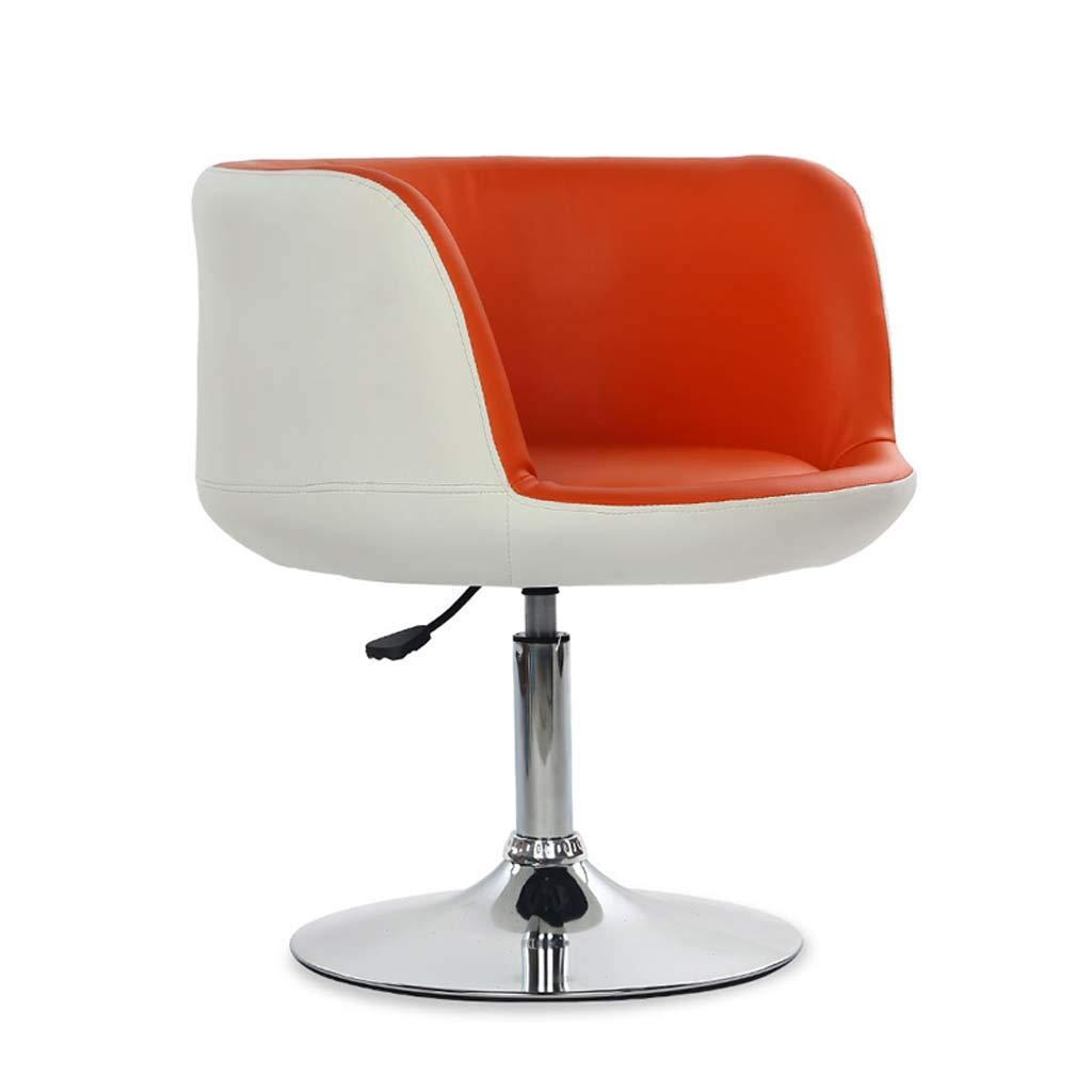 バースツールバーチェア背もたれ付き回転スツールバースツールアームチェアダイニングチェアキッチンレストランドレッシングテーブルチェア (色 : Orange) B07MKGJ61B Orange