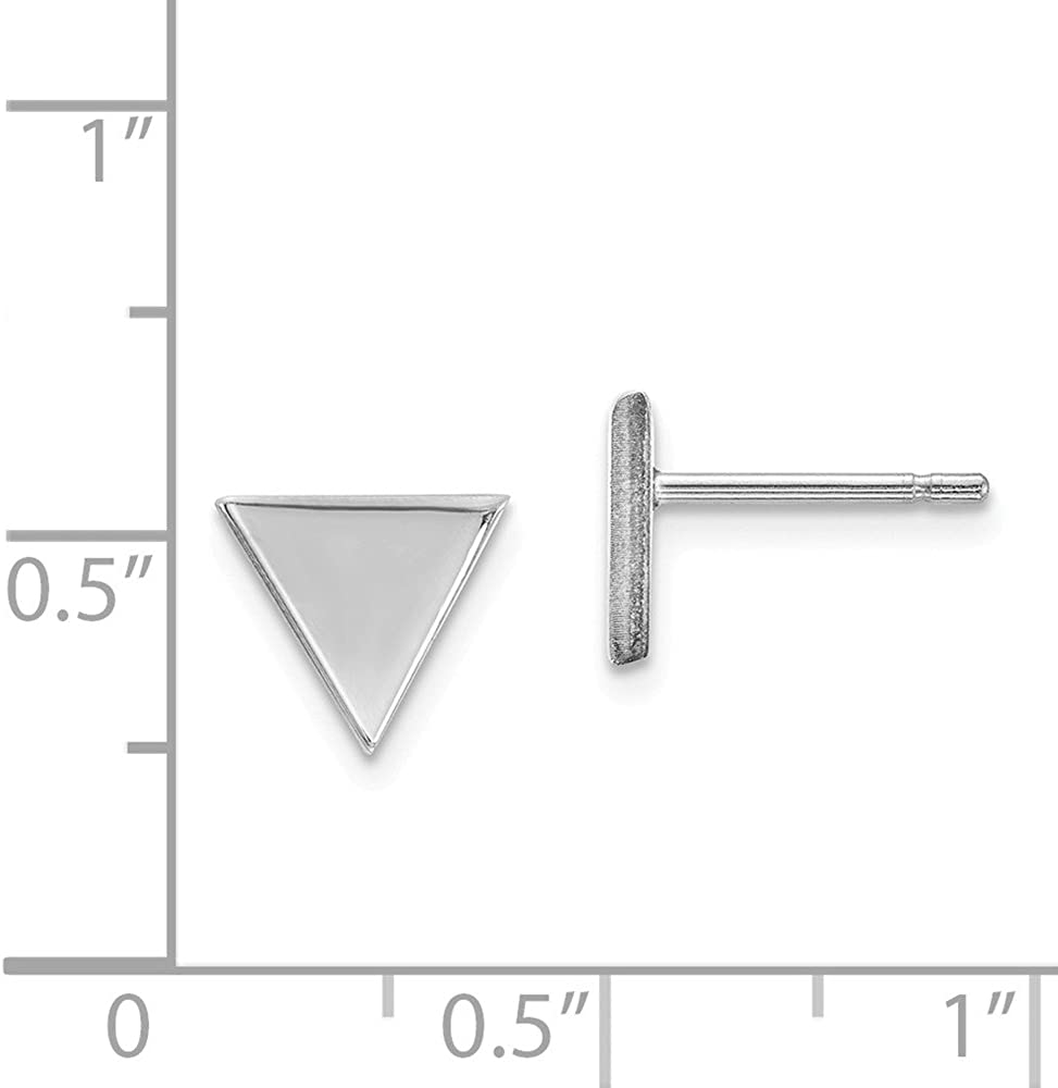 Dainty Designs 14k White Gold Triangle Post Earring One Size