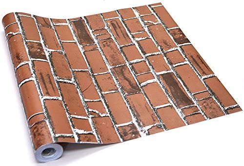 Claurys 壁紙 はがせる レンガ ウォールステッカー 45cm×10m 防水 簡単 貼り付け 選べるデザイン (珈琲レンガ)