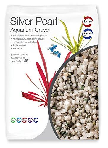 Pisces 11 lb Silver Pearl Aquarium Gravel, Medium