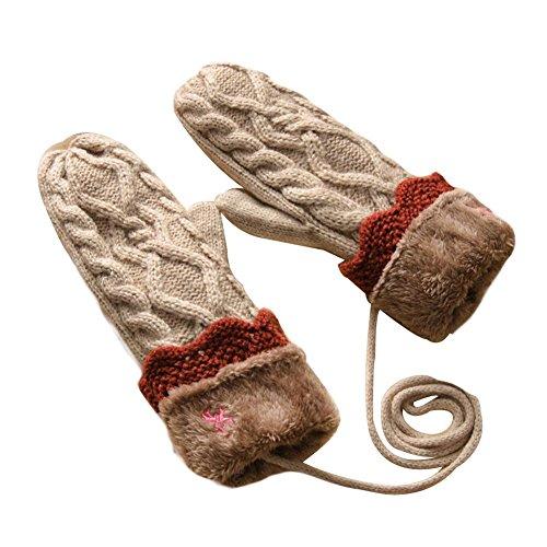 暖かい厚手の手袋を保つ冬の手袋完全な指の手袋の手袋