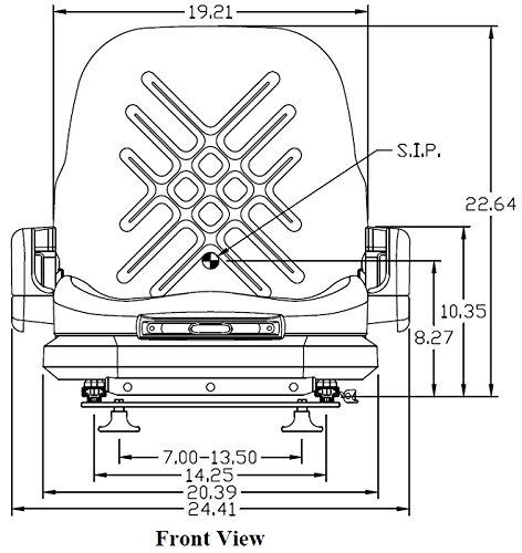 8175 New Universal Forklift Suspension Seat Toyota Nissan Clark Yale Komatsu +