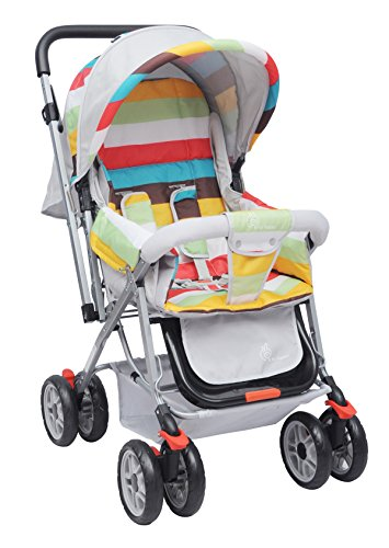 R for Rabbit Lollipop Lite - The Colourful Baby Stroller and Pram for Baby/Kids (Rainbow)