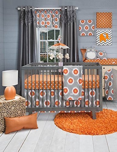UPC 763872137402, Rhythm 4 Piece Baby Crib Bedding Set with Bumper by Sweet Potato