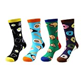 Zmart 4 Pairs Mens Crazy Funny Cute Novelty Cotton Food Crew Socks Gift Box