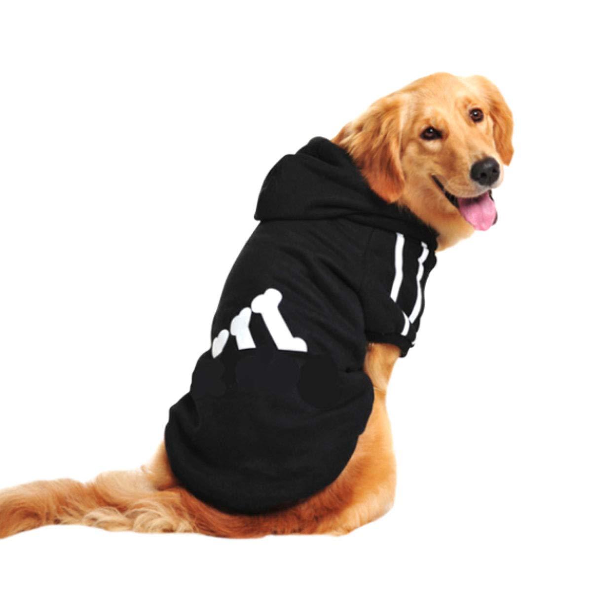 Black 9xl Black 9xl Haoyushangmao Dog Clothes, Pet Clothes, Autumn and Winter Clothes, Medium and Large Dogs, golden Hair Labrador Samoyed Siberian Husky Dog Fashion (color   Black, Size   9XL)