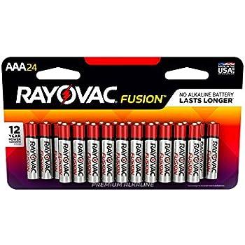 Amazon.com: RAYOVAC AAA 24-Pack FUSION Premium Alkaline