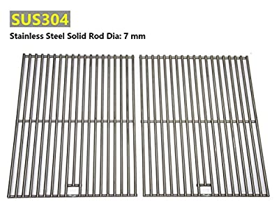 Hongso SC1712 (2-pack) BBQ Solid Stainless Steel Wire Cooking Grid, Cooking Grate Replacement for Char-Broil 463446015, 466446015, 466446115 and Others.