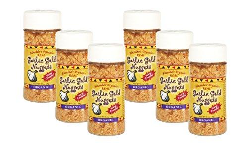 USDA Organic Garlic Gold Nuggets, Roasted Organic Garlic Seasoning Granules, Sodium Free & MSG Free, Vegan 2.1-Ounce Shaker Jar (Pack of 6) (Natural Garlic Bread Sprinkle compare prices)