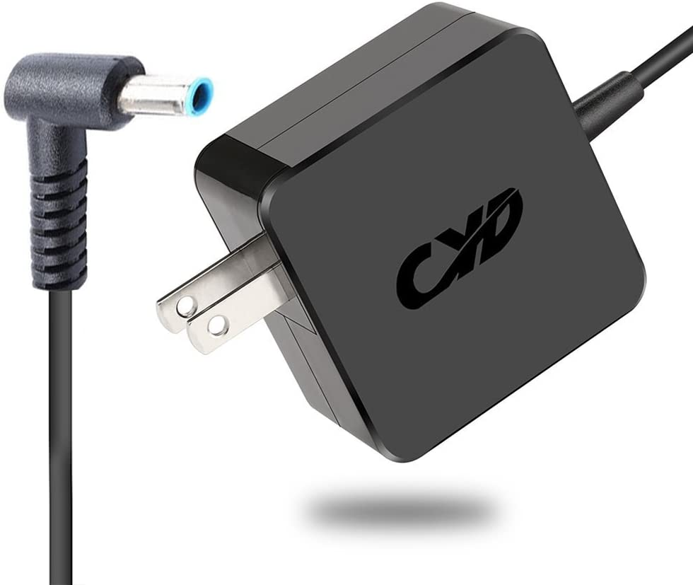 CYD 45W PowerFast Replacement for Laptop-Charger HP-Envy touchsmart-Sleekbook 15 17 m6 Series 854117-850 853605-001 pa-1650-63 15-j058ca 14-an013nr 15-ac151dx 15-ay012dx Extra 8.2FT AC-Power Cable