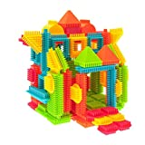 PicassoTiles PTB120 120pcs Bristle Shape 3D Building Blocks Tiles Construction Playboards, Creativity beyond Imagination, Inspirational, Recreational, Educational Conventional