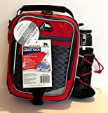 Arctic Zone High-Performance Dual-Compartment Lunch Box Set, Red/Black