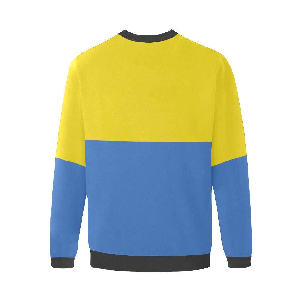 Ukraine Flag Mens Fuzzy Pullover Sweatshirt