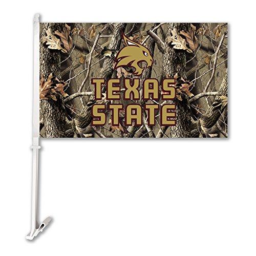 BSI NCAA North Texas Mean Green Car Flag with Wall Bracket, Camo