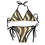 Most Fashion Maker Girls Cool Snake Skin Pattern Printing Summer Sexy Two Pieces Beach Bathing Suit