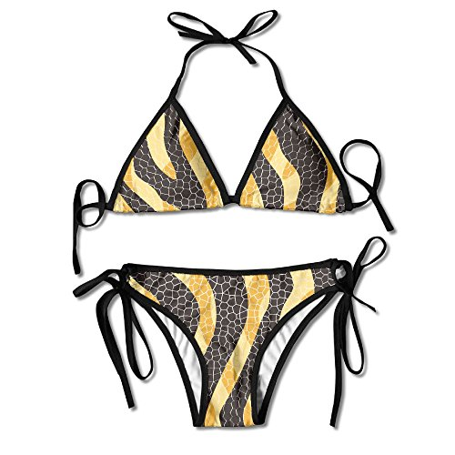 Most Fashion Maker Girls Cool Snake Skin Pattern Printing Summer Sexy Two Pieces Beach Bathing Suit by Most Fashion Maker