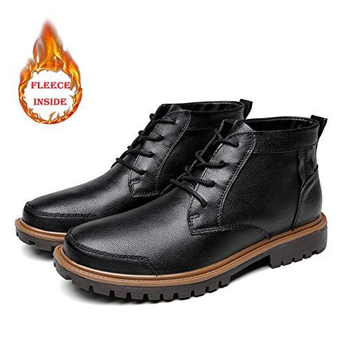 color Winter Top Warm Para Black Inside 39 Botas Classic Yajie High boots Opcional Tamaño convencional Faux Hombres Fleece El De Trabajo Casual Tobillo Los Pure Color Eu Boot qOUBUSgw