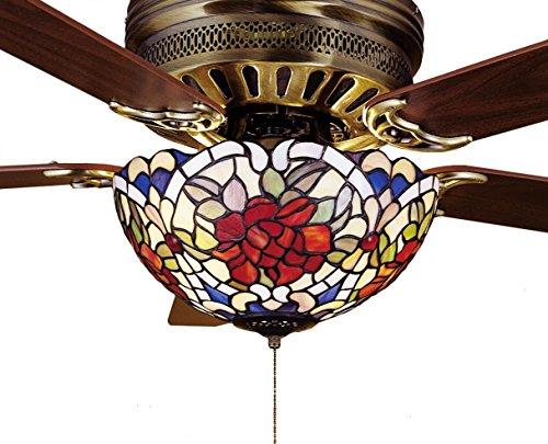 (12 Inch W Renaissance Rose Fan Light Fixture , Ceiling Fixture , Meyda)