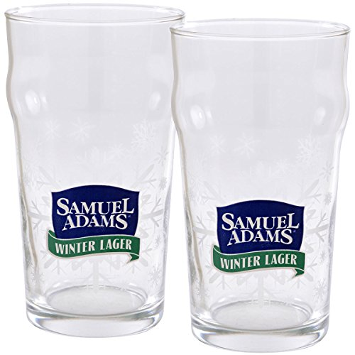(Samuel Adams Winter Lager Pint Glasses - Set of 2)