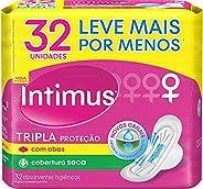 Intimus Absorvente Externo, Tripla Proteção Seca com Abas, 32 unidades