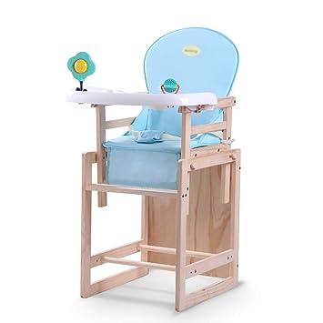 FMEZY Silla Alta Wood Space Saver Silla para bebé Bandeja ...