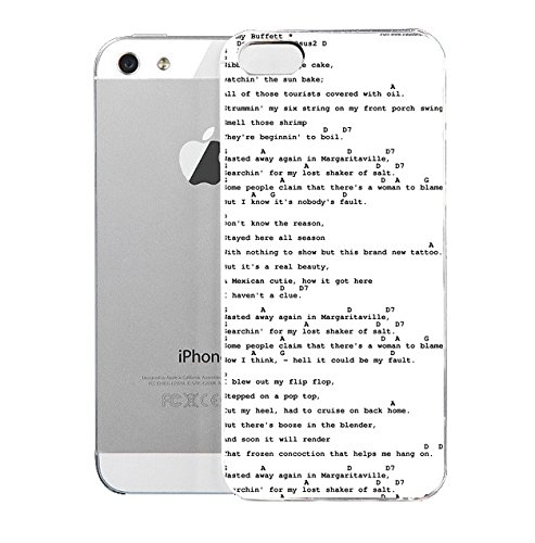 Amazon.com: iPhone 5/5S cover case Margaritavilie Song Lyrics With ...