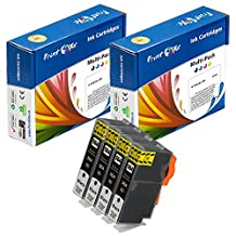 PrintOxe™ Compatible 4 Large Black Ink Cartridges for 564XL (564XLPK-CN684WN) With XL Chips For Use In Photosmart Premium (See Compatible Printer Models Under Description) Exclusively sold by PanContinent