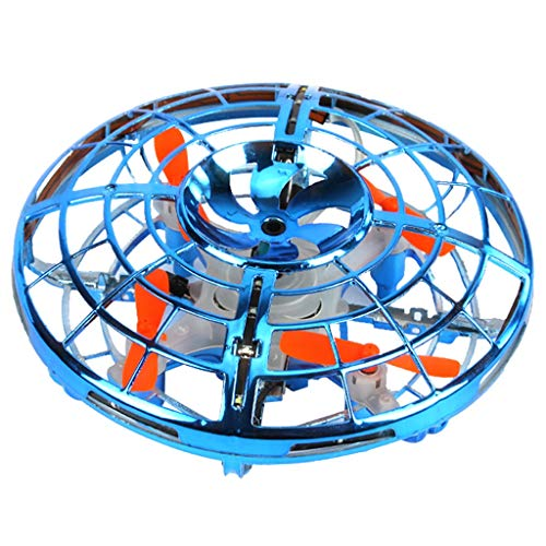 Hand Operated Drones for Kids - Indoor Helicopter Ball with 360° Rotating and Shinning LED Lights,Hand Flying Ball Toys from jin&Co Toys