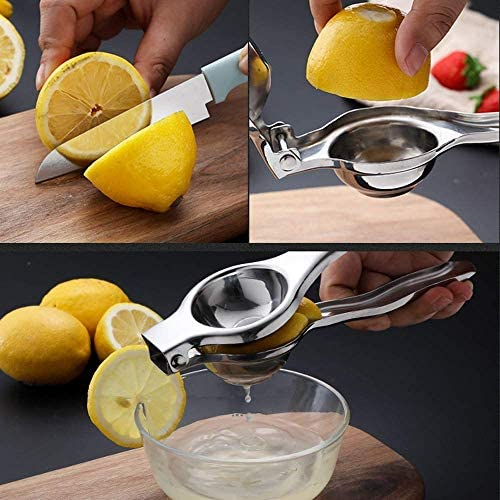 Jugo de naranja prensado de limón de acero inoxidable exprimido exprimido máquina de jugo de naranja exprimido exprimidor Manual hogar Mini