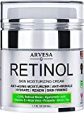 NEW 2020 Retinol Moisturizer Cream for Face and Eye Area - Made in USA - with Hyaluronic Acid -...