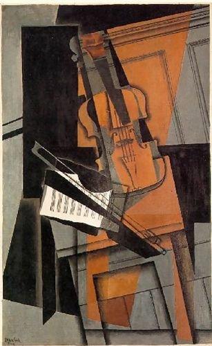 Amazon com: Juan Gris The Violin 24x40 [Kitchen]: Prints