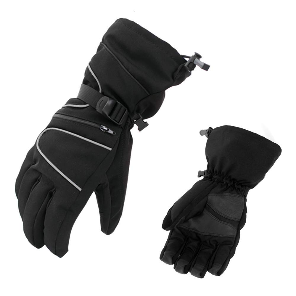 AsDlg Winter Gloves, Waterproof Ski Gloves Anti Slip Cold Weather Gloves Thermal Motorcycling Driving Gloves for Men and Women