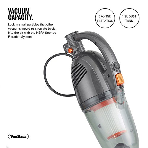 Free Shipping Vonhaus 600w Gray 2 In 1 Corded Upright