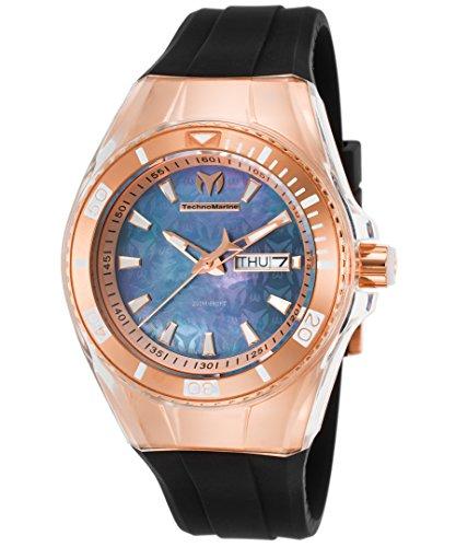 technomarine-tm-115327-womens-cruise-monogram-black-silicone-black-mop-dial-watch